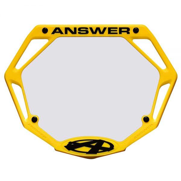 Answer Bmx Mini Number Plate Black